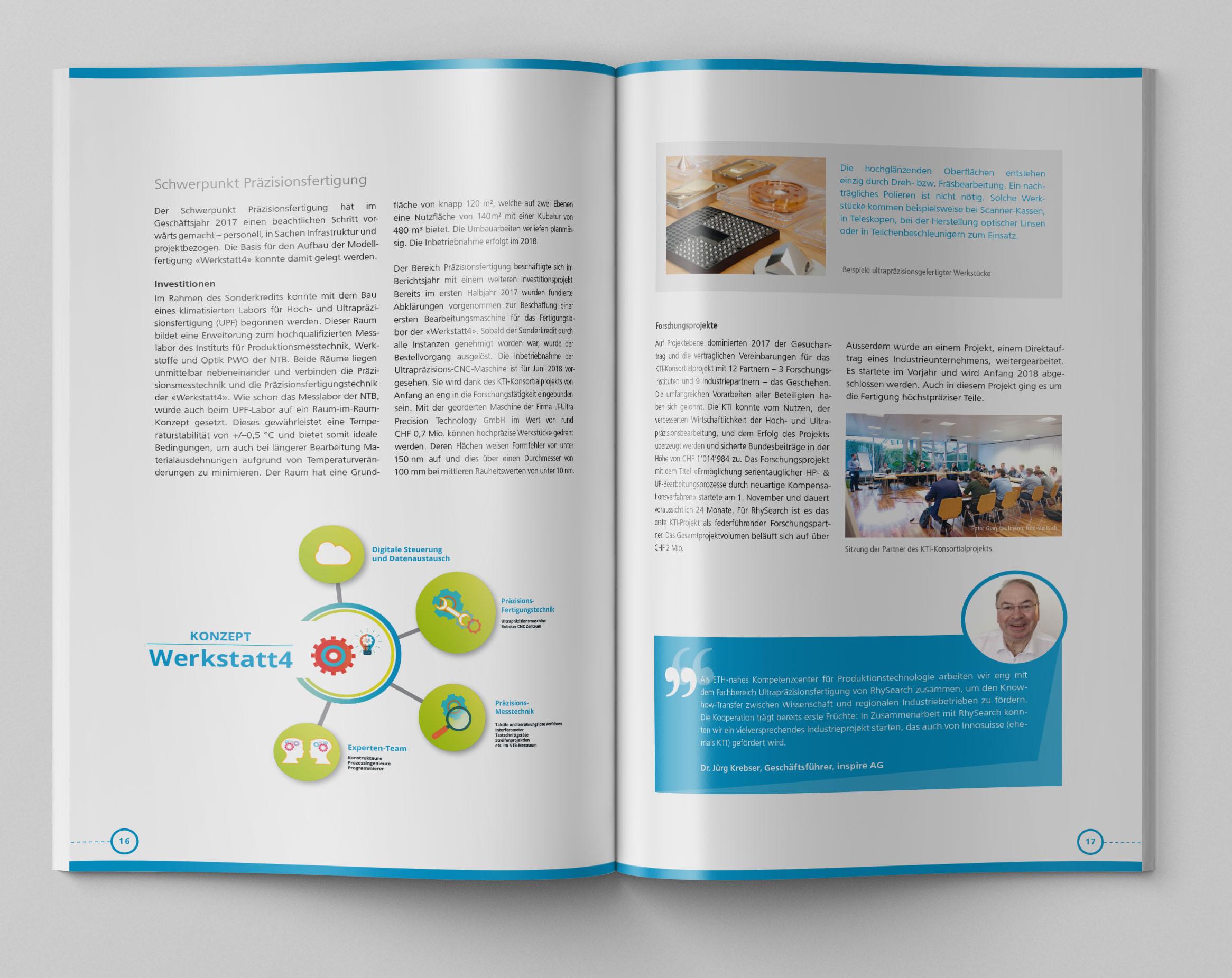 Medienbuero Oehri & Kaiser AG » RhySearch Geschäftsbericht 2017