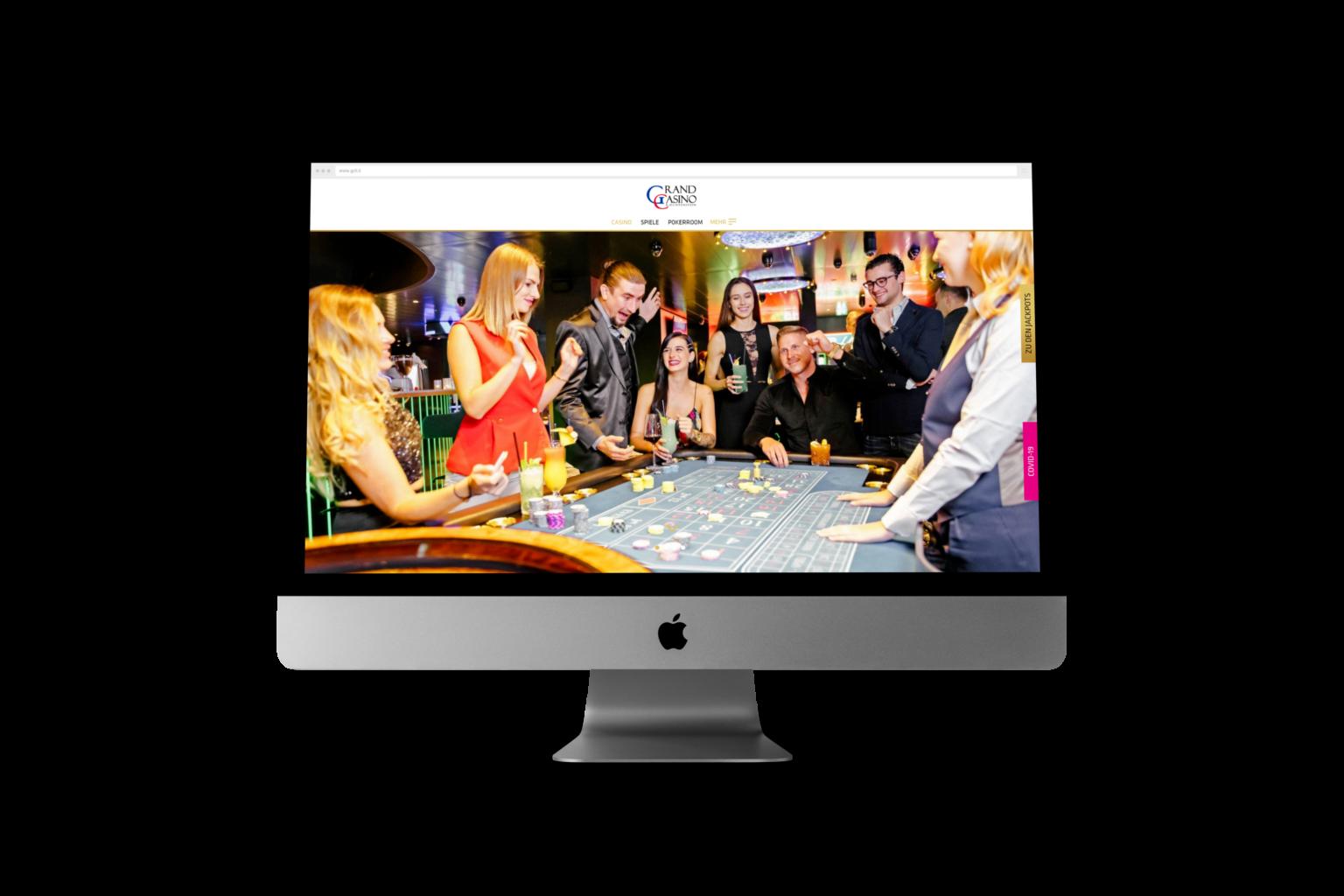 Online-Auftritt für das Grand Casino Liechtenstein